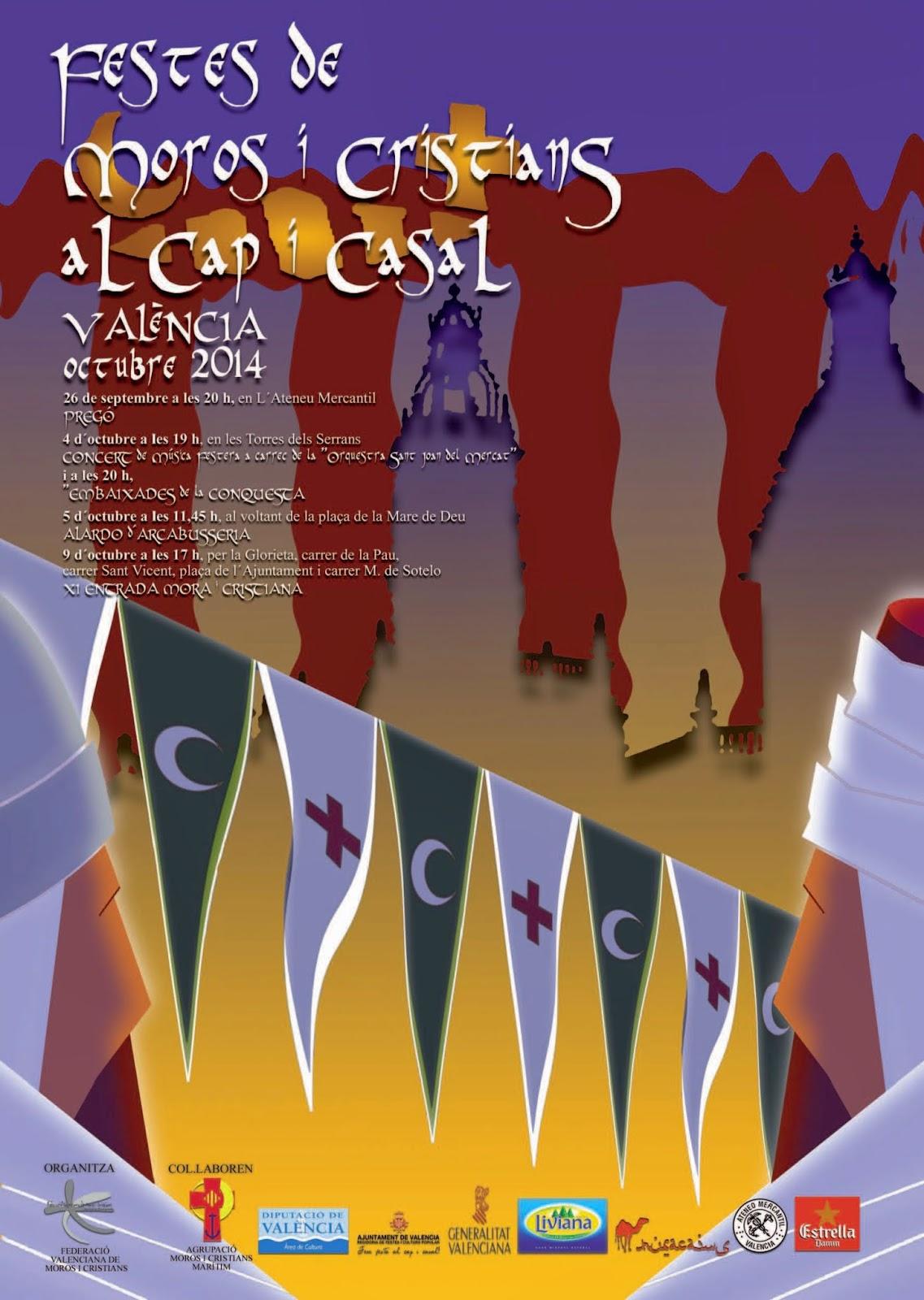 Programa de les Festes de Moros i Cristians al Cap i Casal