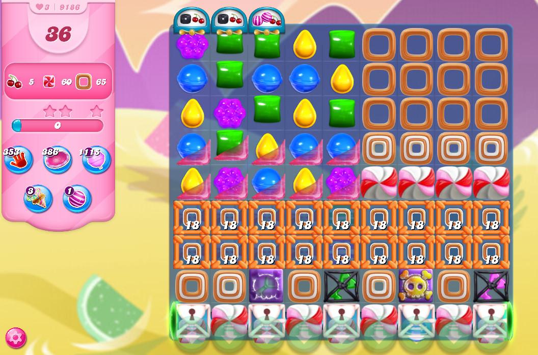 Candy Crush Saga level 9186