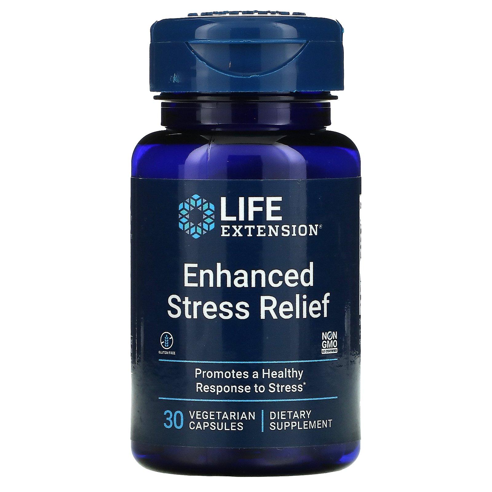 Life Extension, эффективное снятие стресса, 30 вегетарианских капсул