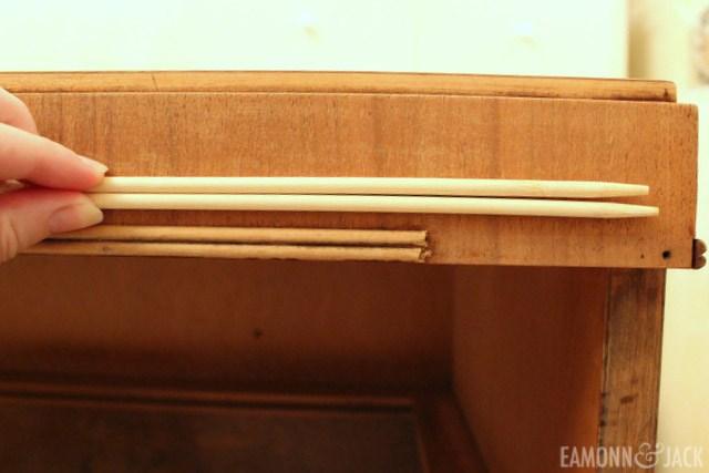 chopsticks to repair trim