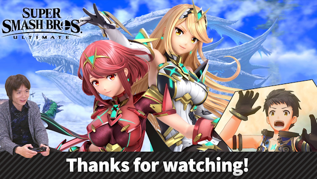 Mr. Sakurai Presents Pyra/Mythra end screen