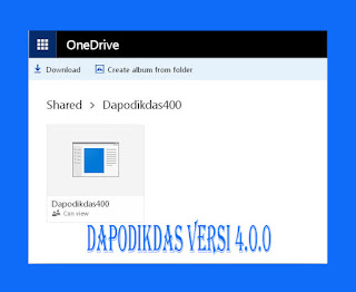 Unduh File Aplikasi Dapodikdas Vesri 4.0.0 terbaru