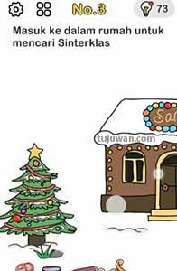 Brain Out : Masuk Ke Dalam Rumah Untuk Mencari Sinterklas