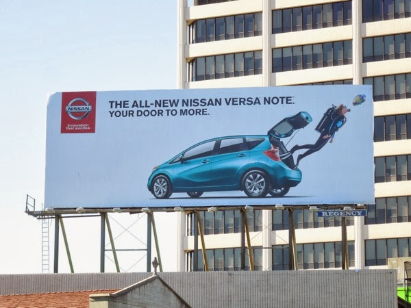 Nissan Versa Note diver billboard