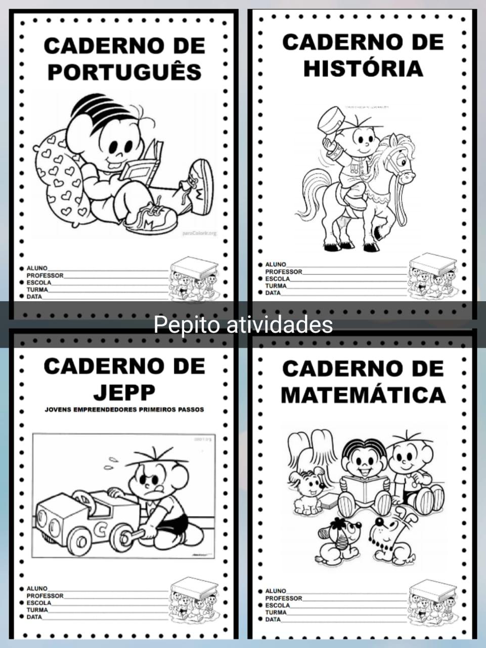 Capas De Caderno Para Colorir Turma Da Monica Em Pdf Para Imprimir