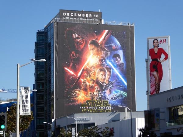 Giant Star Wars The Force Awakens film billboard