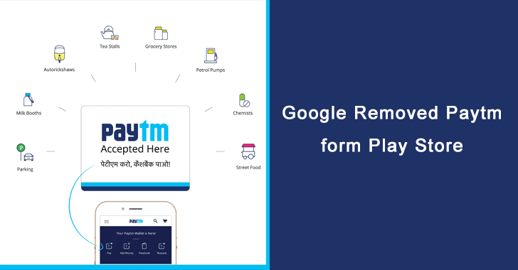Paytm removed