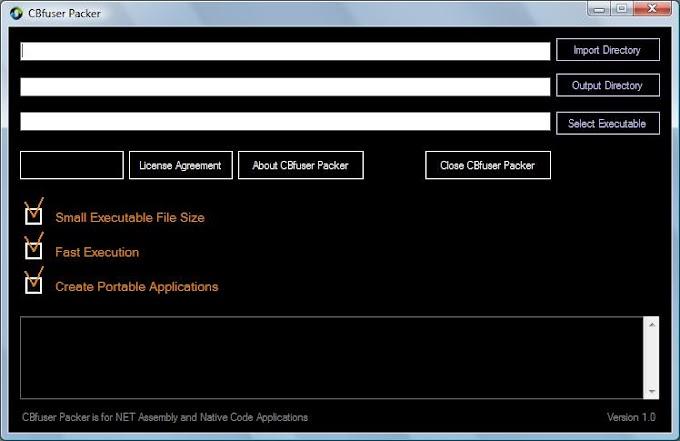 CBfuser Packer 1.0 - Δημιουργήστε Portable εφαρμογές (για προγραμματιστές)