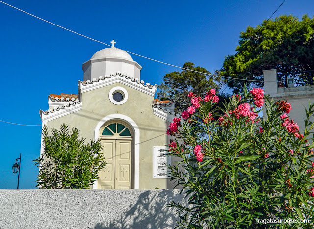 Igreja ortodoxa na Ilha de Spétses, Grécia