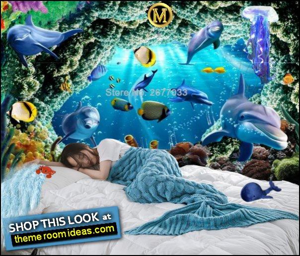underwater bedroom decor mermaid blanket underwater wallpaper mural