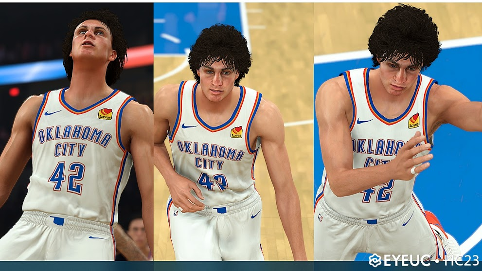 Josh Giddey Cyberface, Hair Update and BOdy Model By HC23 [FOR 2K21]