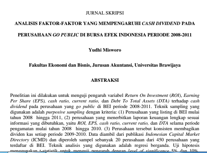 Skripsi Akuntansi Sektor Offentlig Lengkap Pdf Analyse Faktor