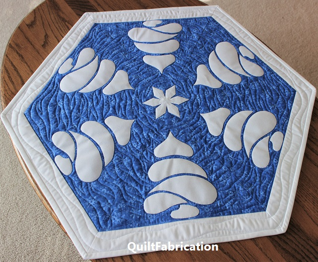 Winter Forest tree table topper by QuiltFabrication