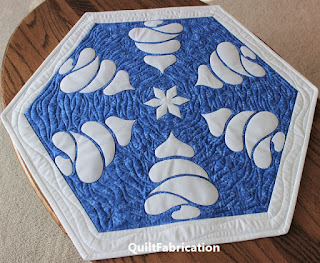 WINTER FOREST-TABLE TOPPER-QUILT PATTERN-WINTER-SNOWFLAKE-SNOW-TABLE DECOR-BEGINNER PATTERN