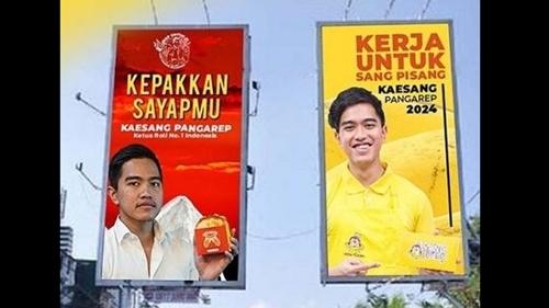Si Merah vs Si Kuning, Parodi Baliho Kaesang Bikin Heboh Netizen