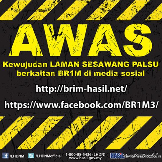 Laman Web BRIM Palsu