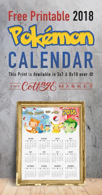free 2018 pokemon calednar