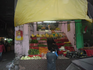Vegetable and fruit seller in Kargil.