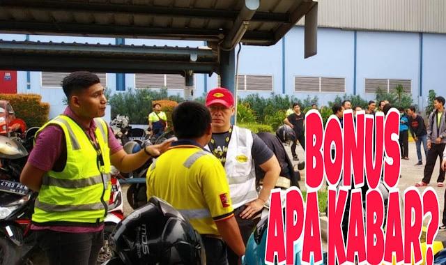 TKA Linfox Suasana saat konsolidasi bonus th 2019