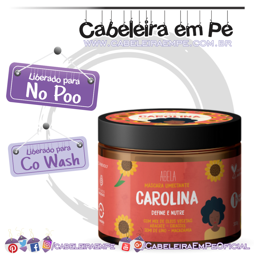 Máscara Umectante Carolina - Abela Cosmetics (No Poo)