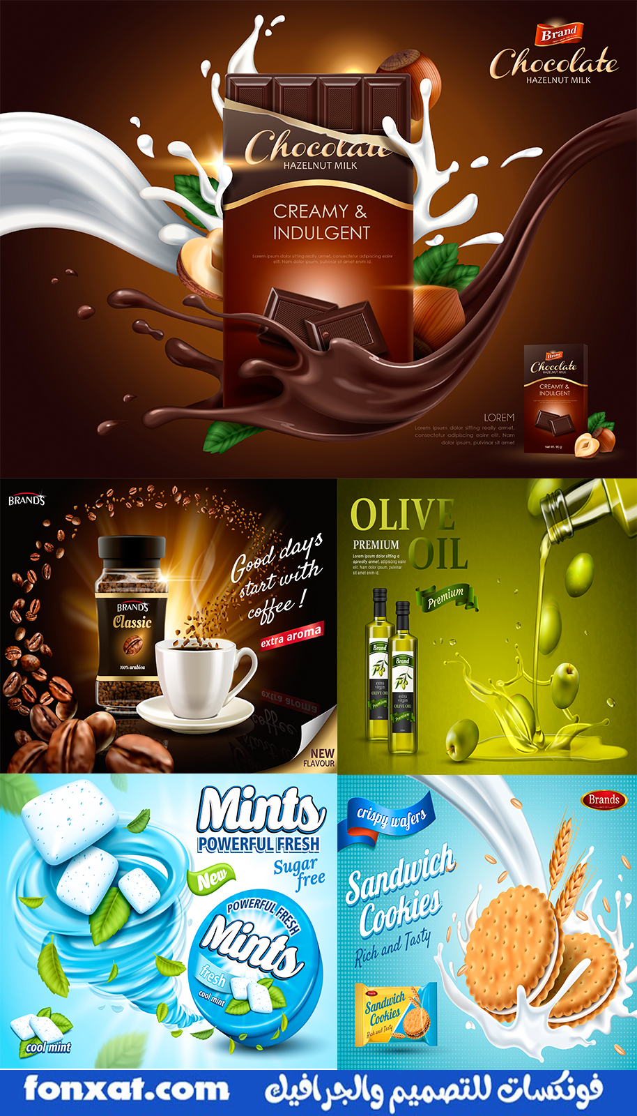 Various vector designs file contains professional food and beverage designs