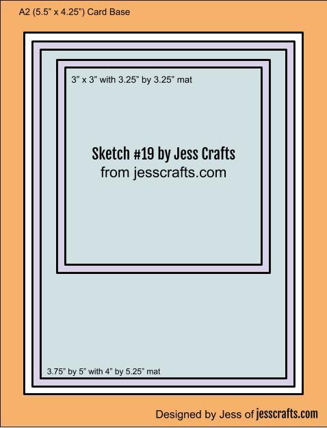 Card Sketch #19 by Jess Crafts