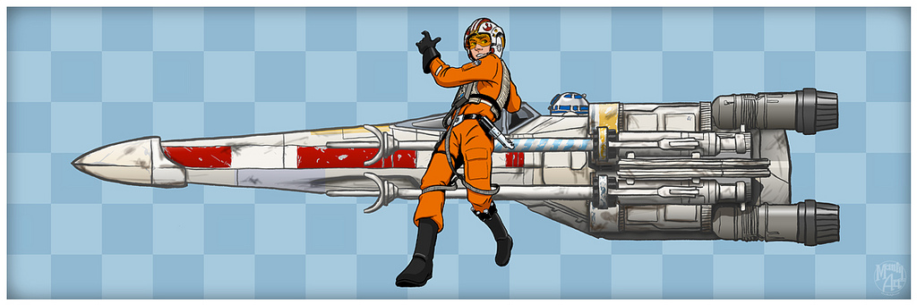 Well known Fashion and Action: Luke Skywalker/Speed Racer Mash-Up Art by  OV19