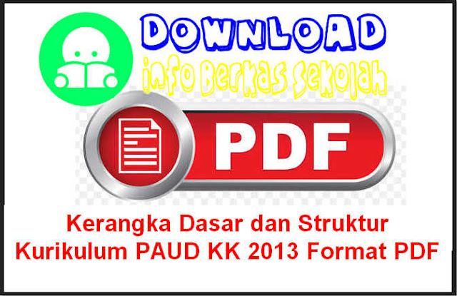 Download Kerangka Dasar dan Struktur Kurikulum PAUD KK 2013 Format PDF
