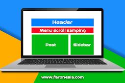Cara membuat menu navigasi scroll horizontal