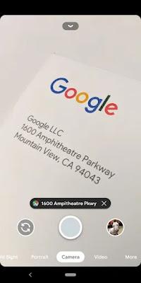 google logo and google address