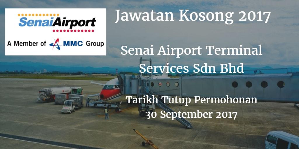 Jawatan Kosong Senai Airport Terminal Services Sdn Bhd 30 Spetember 2017