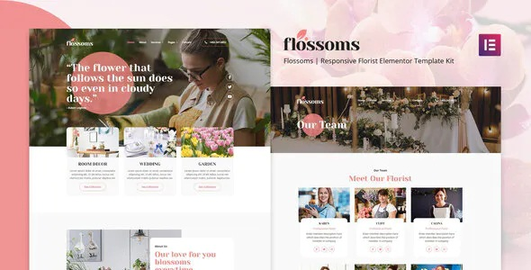Best Flower Shop Elementor Template Kit