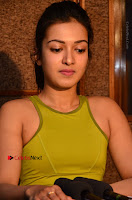 Actress Catherine Tresa Pos during Self Dubbing for Gautham Nanda Movie  0065.JPG