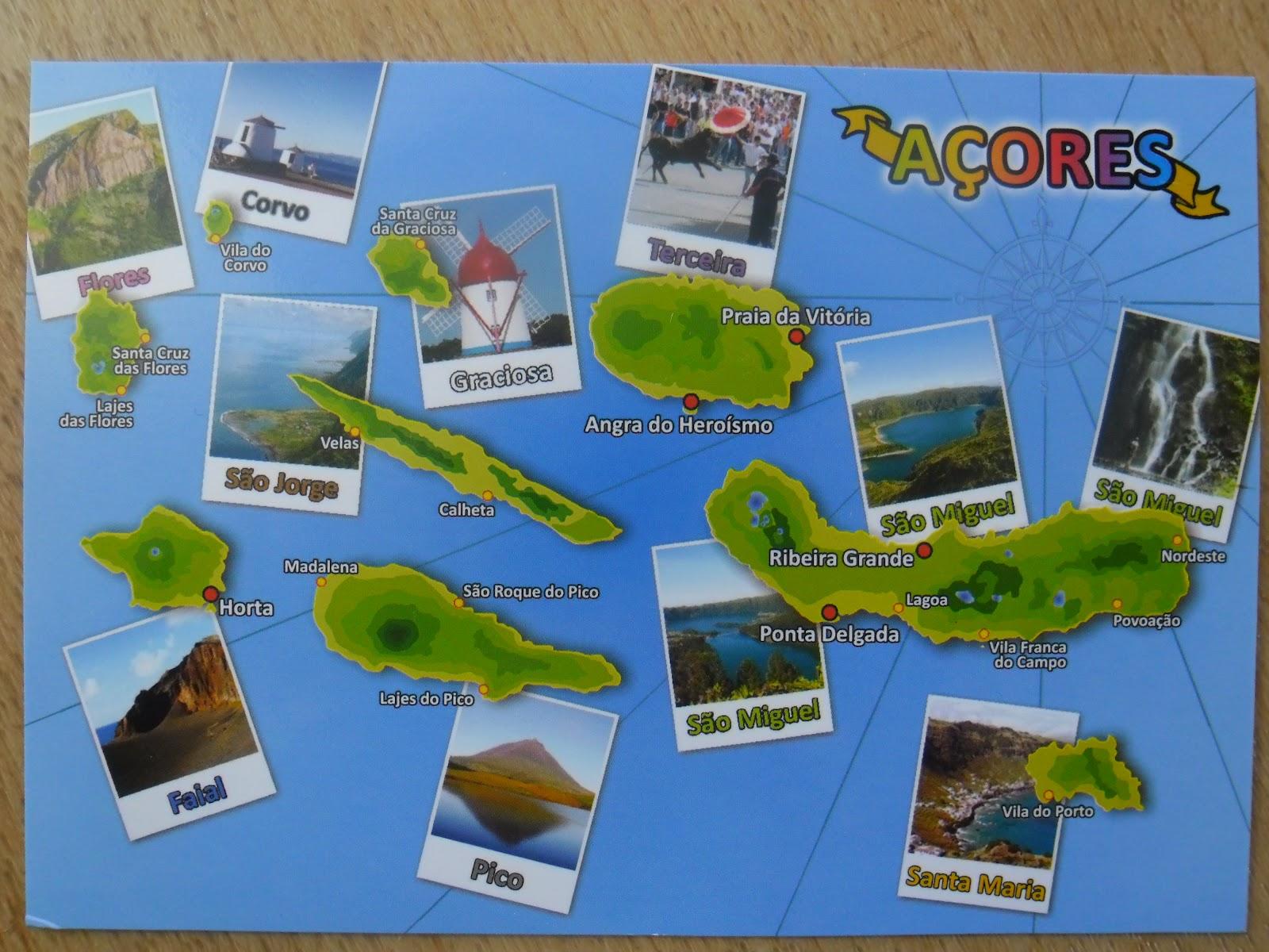 mapa das 9 ilhas dos açores AÇORES   Quiosques de Turismo   NEWS ARTAZORES: Os Nomes das Ilhas  mapa das 9 ilhas dos açores