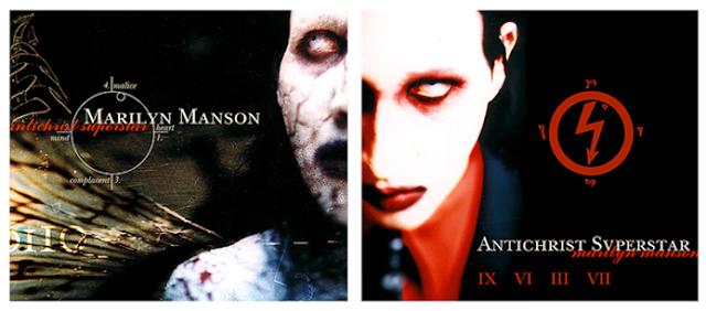 Foto de la portada y contraportada de Antichrist Superstar