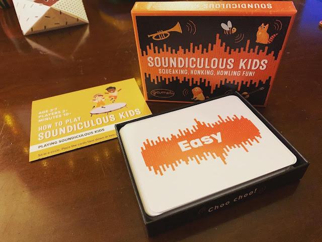 Soundiculous Kids card game set-up
