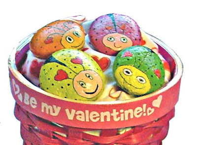 painted rocks, love bugs, Valentine's, rock painting, gift, idea