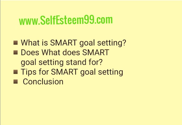Smart goals setting tips
