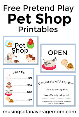 free pet shop printables