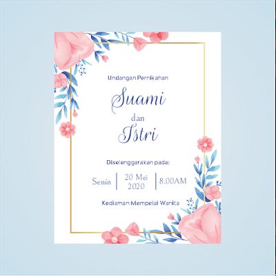 contoh undangan pernikahan sederhana tapi unik