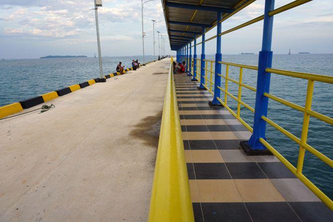 Pelabuhan Legon Bajak yang siap menyambut kapal besar sandar