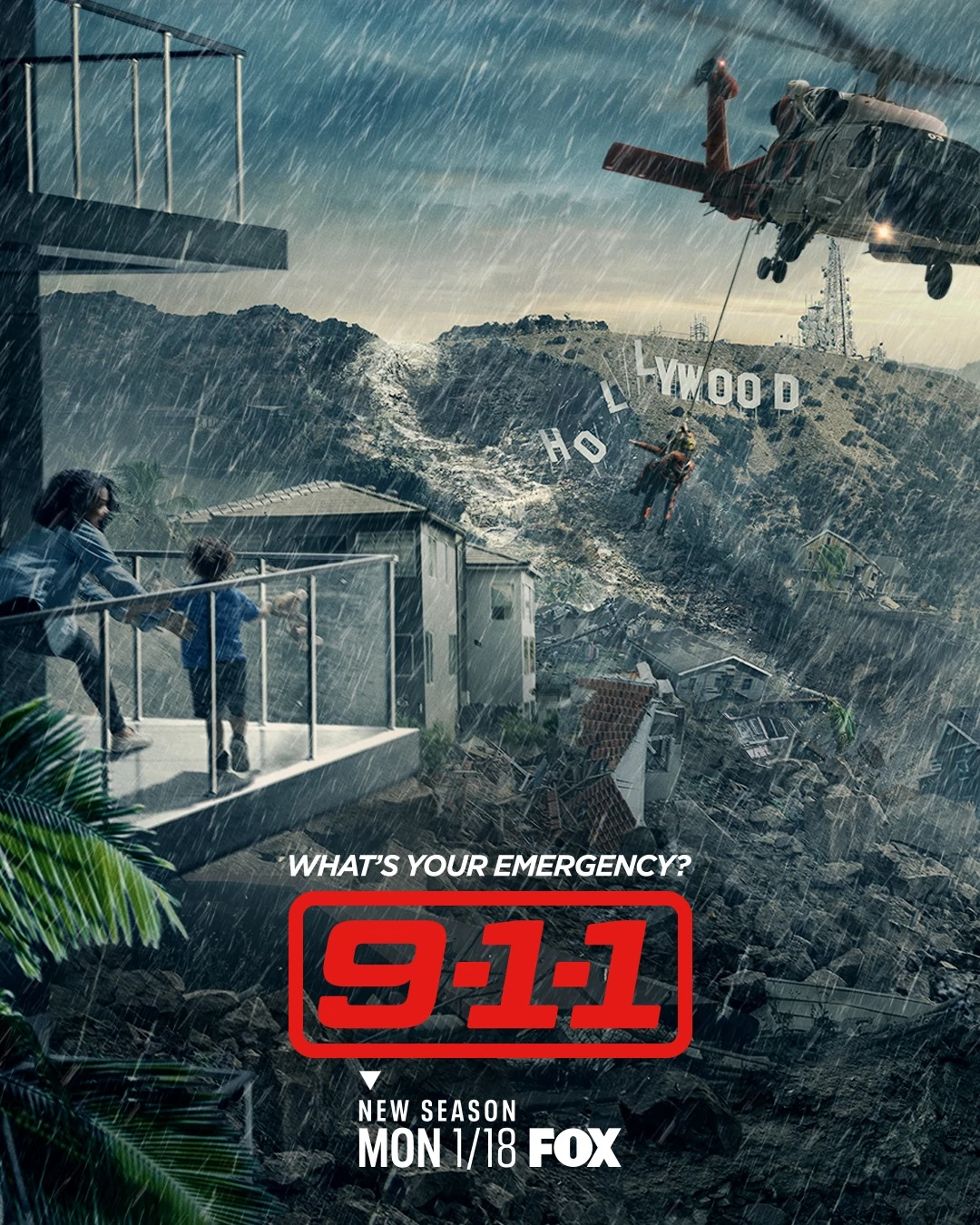 9-1-1 Temporada 1 la 4 Dual Latino/Ingles 720p