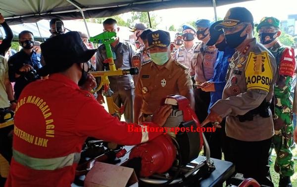 Gubernur Sugianto Pimpin Apel Siaga Karhutla
