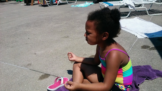 Hanging at the pool