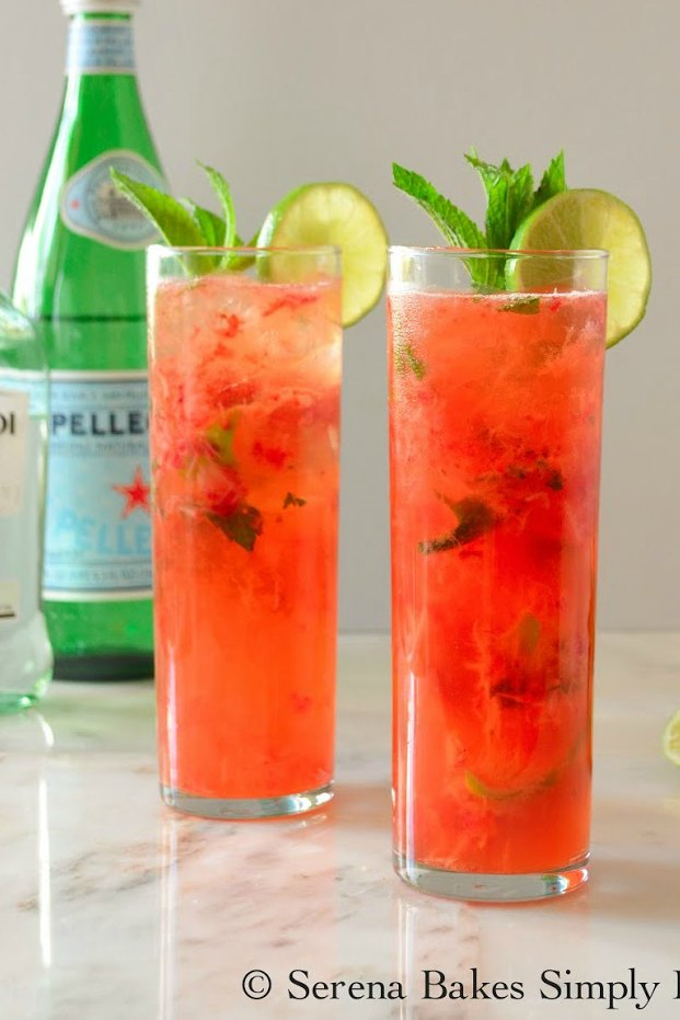 Strawberry Mojitos are a refreshing easy cocktail recipe perfect for summer entertaining.