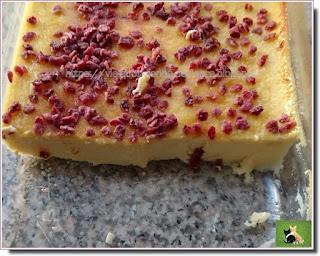 Vie quotidienne de FLaure : Flan coco - vanille parsemé de pépites de cranberries