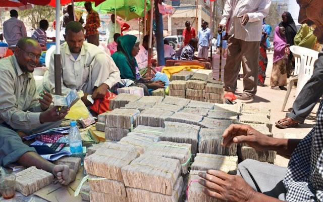 Jual beli Uang di Pasar Hargesia