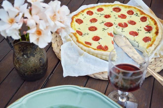 torta robiola pomodorini e timo