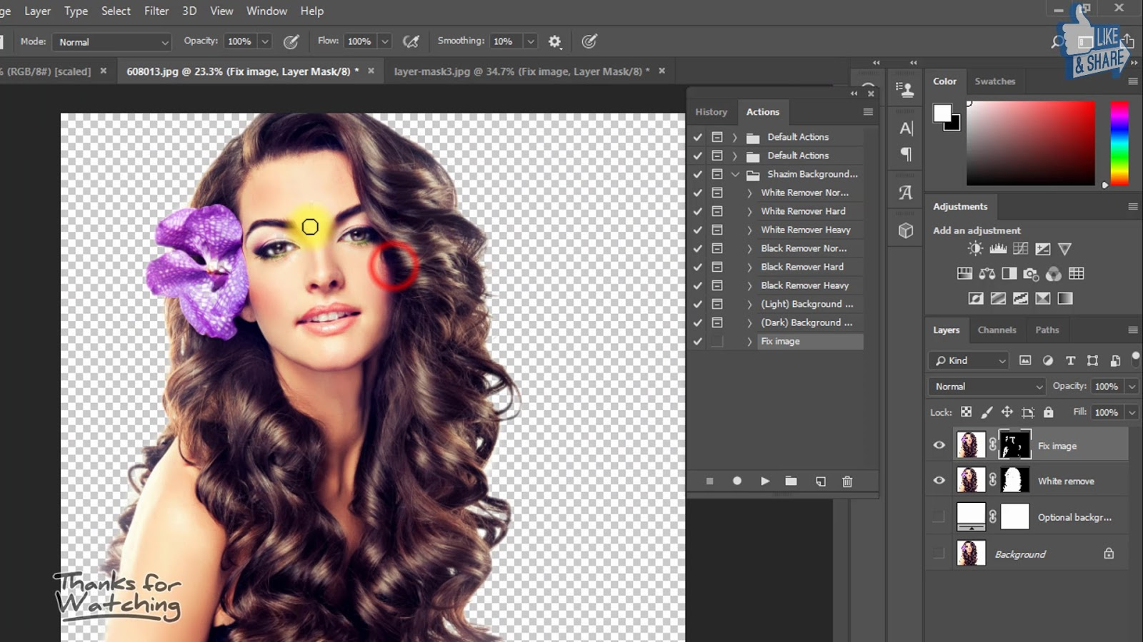 1 click Automatic Background Remove Photoshop Actions 6