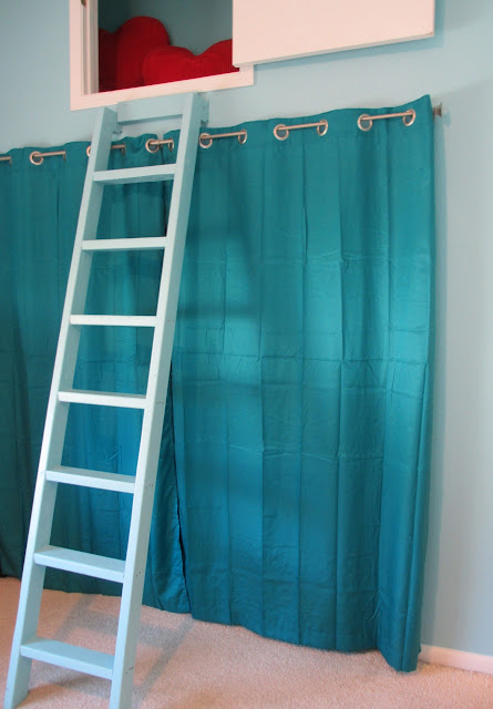 curtain serving as closet door
